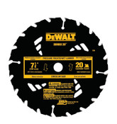 DeWalt Portable Construction Saw Blades, 7 1/4 in, 20 Teeth, 5/PKG, #DW3174