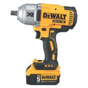 "DeWalt 20v MAX* XR Brushless High Torque 1/2"" Impact Wrench Kit with Detent Anvil, 1/EA, #DCF899P2"