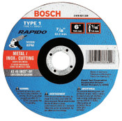 Bosch Tool Corporation Thin Cutting/Rapido Type 1A (ISO 41) Wheels, 6 X 1/16, 7/8 in Arbor, AS60INOX-BF, 25/EA, #TCW1S600
