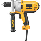 DeWalt 1/2 in Heavy-Duty Drills, Metal, Single Sleeve Ratcheting Chuck, 1,200 rpm, 1/EA, #DWD215G
