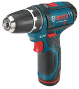 Bosch Tool Corporation 12V Max Litheon Cordless Drill/Drivers, 3/8 in Chuck, 350 rpm, 265 in lb Torque, 1/EA, #PS312A