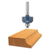 "Bosch Tool Corporation 1/4"" RAD. COVE ROUTER BIT W/B.B. CARB, 1/EA, #85205M"