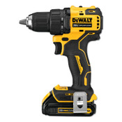 DeWalt Atomic Compact Series 20V MAX* Brushless Drill/Driver Kit, 1/2 in, 1.5 Ah, 1/EA, #DCD708C2