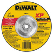 "DeWalt Extended Performance Type 27 Depressed Center Wheel, 7"", Z24R, 1/4 in Thick, 10/EA, #DW8827"