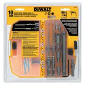 DeWalt 10 Piece SDS Plus Hex Bit Kit, 5/32 in & 3/16 in, Carbide Tipped, 1/KT, #DW5366