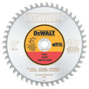 DeWalt Metal Cutting Saw Blades, 8 in, 48 Teeth, 1/EA, #DWA7840