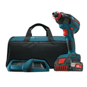 Bosch Tool Corporation 18V Cordless Impact Driver, 1/4 in Chuck, 1650 In lb Torque, 1/KT, #IDH182WC102