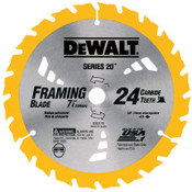 DeWalt Portable Construction Saw Blades, 7 1/4 in, 24 Teeth, 5/EA, #DW3178