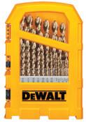 DeWalt Pilot Point 29-Piece Gold Ferrous Oxide Drill Bit Sets, 1/16 in - 1/2 in, 1/SET, #DW1969