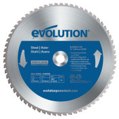 Evolution TCT Metal-Cutting Blades, 14 in, 1 in Arbor, 1,600 rpm, 66 Teeth, 1/EA, #14BLADEST