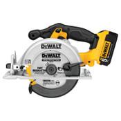 DeWalt Circular Saw Kits, 20 V, 6 1/2 in Blade, 5/8 in Arbor, 5,150 rpm, 1/EA, #DCS391P1