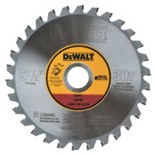 DeWalt Metal Cutting Saw Blades, 5 1/2 in, 30 Teeth, 1/EA, #DWA7770