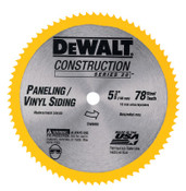 DeWalt Cordless Construction Saw Blades, 5 3/8 in, 78 Teeth, 1/EA, #DW9053
