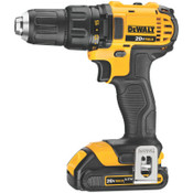 DeWalt Cordless Compact Drill/Drivers, 1/3 in Chuck, 6 RPM, Electronic Variable/Reverse, 1/EA, #DCD780C2