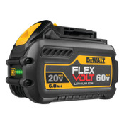 DeWalt Battery Packs, 6 A-h, 20/60 V, 1/EA, #DCB606
