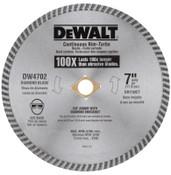 DeWalt Continuous Rim Diamond Blades, 7 in, 1/EA, #DW4702
