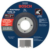 "Bosch Tool Corporation Thin Cutting/Rapido Type 1A (ISO 41) Wheel, 4 1/2"", 7/8"" Arbor, AS60INOX-BF Grit, 25/EA, #TCW1S450"