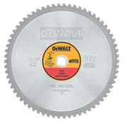 DeWalt Metal Cutting Saw Blades, 14 in, 1 in Arbor, 1,800 rpm, 66 Teeth, 1/EA, #DWA7747