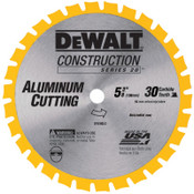 DeWalt Cordless Construction Saw Blades, 5 3/8 in, 30 Teeth, 5/EA, #DW9052