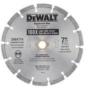 DeWalt Segmented Rim Diamond Blades, 7 in, 1/EA, #DW4714T