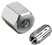 Bosch Tool Corporation Accessories, Collet and Nuts, 3 in Length, 1/8 in Collet Size, 1/EA, #CT125