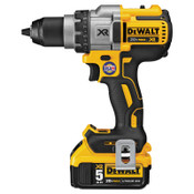 DeWalt 20V MAX XR Lithium Ion Brushless Drill/Driver Kit, 1/2 in Chuck, Spotlight Mode, 1/EA, #DCD991P2
