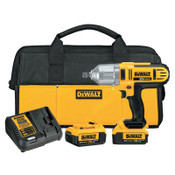 DeWalt 20V MAX* High Torque Cordless Impact Wrench Kit, 1/2 in, 1,500 RPM, Detent Pin Anvil, 1/EA, #DCF889M2