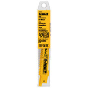 DeWalt Bi-Metal Reciprocating Saw Blades, 6 in, 5/8 TPI, Taper Back, Wood, 5/PK, 5/PKG, #DW4847