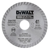 DeWalt Continuous Rim Diamond Blades, 4 in, 3/EA, #DW4700