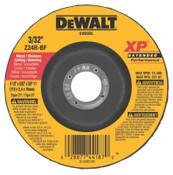 "DeWalt Extended Performance Type 27 Depressed Center Wheel, 4 1/2"", Z24R, 3/32 in Thick, 10/EA, #DW8805"