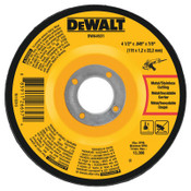 DeWalt Cutting Wheels, 4 1/2 in, 7/8 in Arbor, 60 Grit, 13,300 rpm, 25/EA, #DWA4531