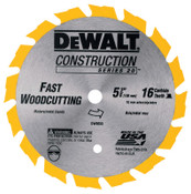 DeWalt Cordless Construction Saw Blades, 5 3/8 in, 16 Teeth, 5/BOX, #DW9055