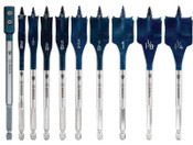Bosch Tool Corporation DAREDEVIL 10 PC SPADE SET W/EXT, 1/EA, #DSB5010