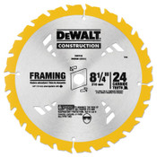 DeWalt Portable Construction Saw Blades, 8 1/4 in, 24 Teeth, 25/BOX, #DW3582