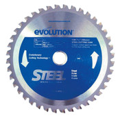 Evolution TCT Metal-Cutting Blades, 7 1/4 in, 5/8 in Arbor, 5,000 rpm, 40 Teeth, 1/EA, #185BLADEST