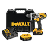 DeWalt 20V MAX* Lithuim Ion Cordless Premium 3-Speed Hammerdrill Kits, 1/2 in Ratcheting Chuck, 2,000 rpm, 1/EA, #DCD985M2