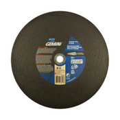 Norton Gemini High Speed Cut-Off Wheels, 14 in, 1 in Arbor, 24 Grit, Silicon Carbide, 1/EA, #66252837843