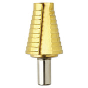 Bosch Tool Corporation Titanium Coated Step Drill Bits, 13/16 in - 1 3/8 in, 10 Steps, 1/EA, #SDT9