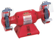 "Baldor Electric 7"" Industrial Grinder,36/60 Grit Wheels,Steel Rest,Iron Exhaust,Single, 3600 rpm, 1/EA, #762E"