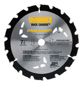 DeWalt Portable Construction Saw Blades, 7 1/4 in, 18 Teeth, 5/EA, #DW3191