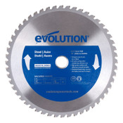 Evolution TCT Metal-Cutting Blades, 10 in, 1 in Arbor, 5,200 rpm, 52 Teeth, 1/EA, #10BLADEST