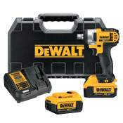 DeWalt 20V MAX* Compact Cordless Impact Wrench Kit, 1/2 in, 2,300 RPM, Detent Pin Anvil, 1/EA, #DCF880M2
