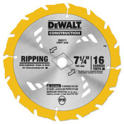 DeWalt Portable Construction Saw Blades, 7 1/4 in, 16 Teeth, 25/BOX, #DW3571