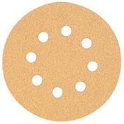 "DeWalt 5"" Random Orbit Sheets (8 Hole), 120 Grit, 5, 25/CS, #DW4303"