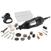 Bosch Tool Corporation 200 Series Rotary Tools, 21 Assorted Accessories; Case; Cutting Guide, 1/EA, #200121