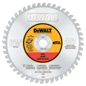 DeWalt Metal Cutting Saw Blades, 6 1/2 in, 48 Teeth, 1/EA, #DWA7762
