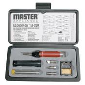 Master Appliance Soldering Iron Kit, Case;Heat/Soldering/Hot Knife/Torch Tip;60/40 Solder;Sponge, 1/EA, #EI20K