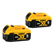 DeWalt Battery Packs, 20 V, 5 Ah, 1/EA, #DCB2052