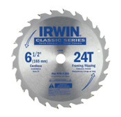 Stanley Products Carbide-Tipped Circular Saw Blades, 6 1/2 in, 24 Teeth, 5/BOX, #15120
