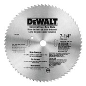 DeWalt Steel Circular Saw Blades, 7 1/4 in, 68 Teeth, 1/EA, #DW3329